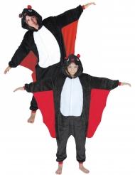 Disfarce casal macacão morcego adulto e criança