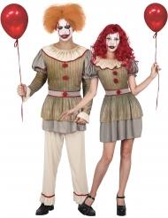Disfarce casal palhaço psicótico adulto