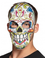 Máscara dia de los muertos branco