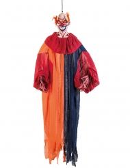 Decoração de pendurar palhaço multicolor aterrador 165 cm