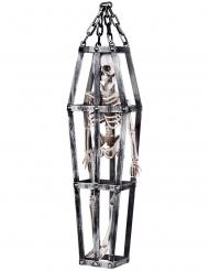 Decoração para pendurar esqueleto numa jaula 50 cm