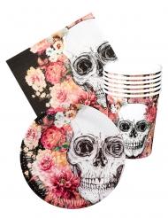 Kit louça descartável Dia de los muertos 6 pessoas
