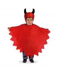 Capa e carapuço diabinho criança