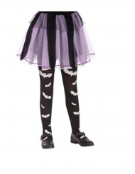 Collants preto morcego menina
