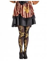 Collants preto steampunk mulher