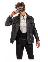 Óculos amovíveis steampunj cinzento adulto