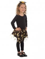 Tutu preto e dourado halloween menina