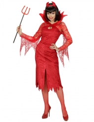 Disfarce diabo vermelho mulher