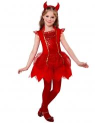 Disfarce diabo vermelho menina