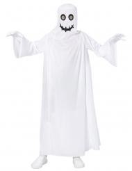 Disfarce fantasma branco criança