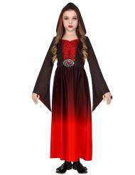 Disfarce guru vampira vermelho menina