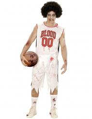 Disfarce jogador de basquete zumbi homem