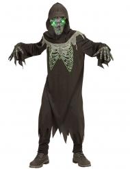 Disfarce senhor da morte preto e verde criança