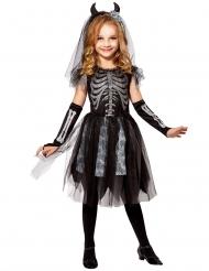 Disfarce noiva demónio esqueleto criança