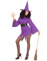 Disfarce bruxa lilás sexy mulher