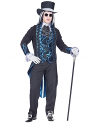 Disfarce vampiro vitoriano azul homem