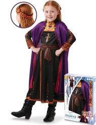 Caixa presente disfarce e trança Anna Frozen 2™ menina