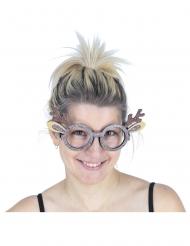 Óculos rena brilhante adulto
