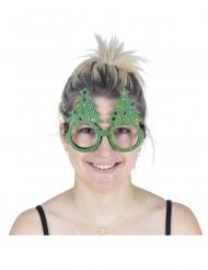 Óculos árvore brilhante adulto