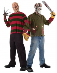 Disfarce de casal Freddy contra Jason adulto