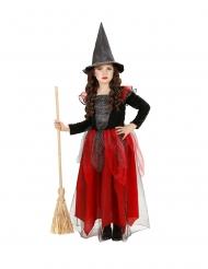 Disfarce bruxa lantejoulas e tule menina