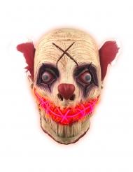 Máscara látex luminoso palhaço adulto