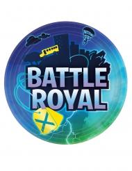 8 Pratos de cartão battle royale 23 cm