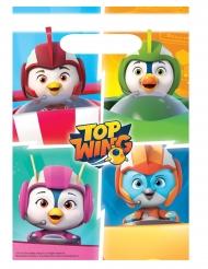8 Sacos de festa em plástico Top Wing™ 23 x 16 cm