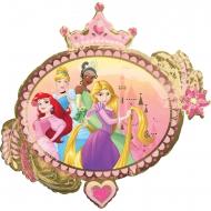 Balão de alumínio frente verso Princesas™ 86 x 81 cm