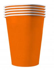 20 Copos americanos cartão reciclável laranja 53 cl