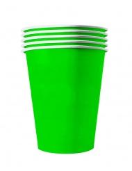 20 Copos americanos cartão reciclável verdes 53 cl