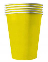 20 Copos americanos cartão reciclável amarelo 53 cl