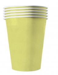 20 Copos americanos cartão reciclável amarelo pastel 53 cl