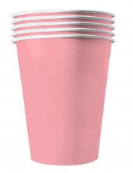 20 Copos americanos cartão reciclável rosa pálido 53 cl