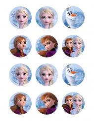 12 Decorações em ázimo para biscoitos Frozen 2™ 5.8 cm
