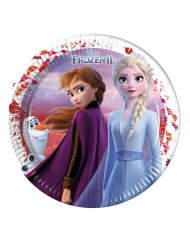 8 Pratos grandes de cartão Frozen 2 - O Reino do Gelo™ 23 cm
