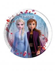8 Pratos pequenos de cartão Frozen 2 - O Reino do Gelo™ 20 cm