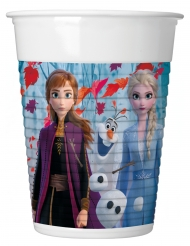 8 Copos de plástico Frozen 2 - O Reino do Gelo™ 200 ml