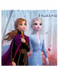 16 Guardanapos pequenos de papel Frozen 2™ 25 x 25 cm