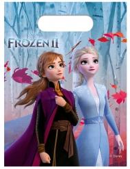 6 Sacos de festa de plástico Frozen 2 - O Reino do Gelo™ 23 x 16.5 cm
