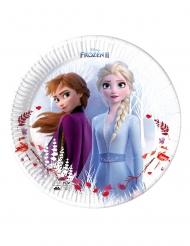 8 Pratos de cartão compostável Frozen 2 ™ 23 cm