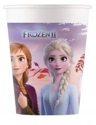 8 Copos de cartão compostável Frozen 2™ 200 ml