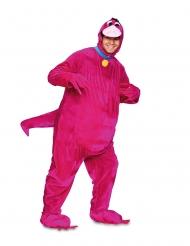 Disfarce dinossauro cor-de-rosa adulto