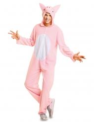 Disfarce porco cor-de-rosa adulto