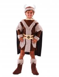 Disfarce viking castanho menino