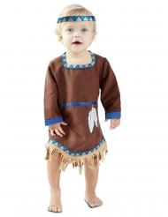 Disfarce vestido pequena indiana bebé