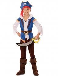Disfarce pirata aventura azul menino