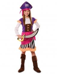 Disfarce pirata aventura roxo menina
