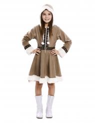 Disfarce vestido esquimó menina