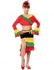 Disfarce dançarina de rumba menina